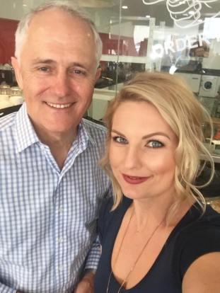 Amanda Williams and Prime Minister Malcolm Turnbull