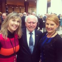 Amanda WIlliams right with former Prime Minister John Howard OAM