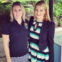 With Sally Pearson at the official launch of first naming sponsor 2018 Commonwealth Games