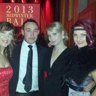 At the Midwinter Ball with fellow staffers