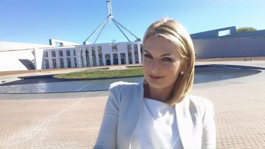 I took a selfie stick to work this day so that I could get a photograph to mark my last day working in Parliament House in 2015.